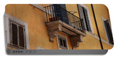 Balcony Piazza Della Madallena In Roma Portable Battery Charger by Dany Lison