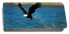 Portable Battery Charger featuring the photograph Bald Eagle Fishing by Don Schwartz