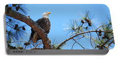 Portable Battery Charger featuring the photograph Bald Eagle by Geraldine DeBoer