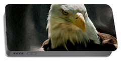 Bald Eagle Giving You That Eye Portable Battery Charger