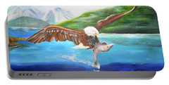 Bald Eagle Having Dinner Portable Battery Charger