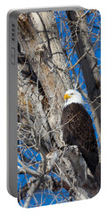 Portable Battery Charger featuring the photograph Bald Eagle by Michael Chatt