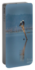 Bald Eagle Pair Portable Battery Charger by Paul Rebmann