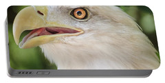 Portable Battery Charger featuring the photograph American Bald Eagle Portrait - Bright Eye by Patti Deters