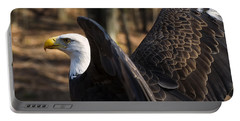 Bald Eagle Preparing For Flight Portable Battery Charger by Chris Flees