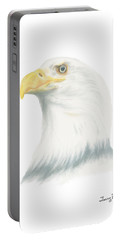 Bald Eagle Portable Battery Charger by Terry Frederick