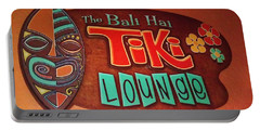 Bali Hai Tiki Lounge Pontchartrain Beach Portable Battery Charger by Deborah Lacoste