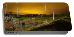 Ball Field At Night Portable Battery Charger