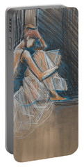 Inner Turmoil Ballerina Sketch Portable Battery Charger by Jani Freimann