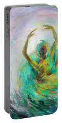 Portable Battery Charger featuring the painting Ballerina by Xueling Zou