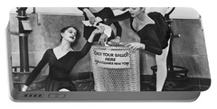 Ballet On Top Of Empire State Portable Battery Charger