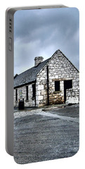 Ballintoy Stone House Portable Battery Charger by Nina Ficur Feenan