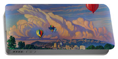 Ballooning On The Rio Grande Portable Battery Charger by Art James West