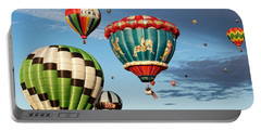 Portable Battery Charger featuring the photograph Balloons Away by Dave Files