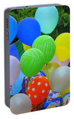 Portable Battery Charger featuring the photograph New Orleans Balloons Of Colours At The Southern Decadence Parade In Louisiana  by Michael Hoard