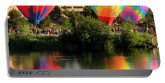 Balloons Over Bend Oregon Portable Battery Charger by Kevin Desrosiers