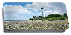 Portable Battery Charger featuring the photograph Baltic Sea Lighthouse by Kennerth and Birgitta Kullman