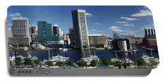 Baltimore Inner Harbor Panorama Portable Battery Charger