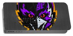 Baltimore Ravens Football Team Retro Logo Maryland License Plate Art Portable Battery Charger