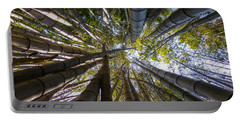 Portable Battery Charger featuring the digital art Bamboo Jungle by Gandz Photography
