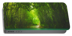 bamboo path to  Blue Lagoon  Portable Battery Charger