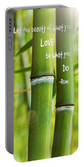 Rumi Quote Bamboo I Portable Battery Charger