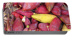 Portable Battery Charger featuring the photograph Banana Flowers by Ethna Gillespie