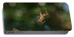 Banana Spider In Web Portable Battery Charger