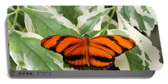 Banded Orange Longwing Butterfly Portable Battery Charger by Judy Whitton