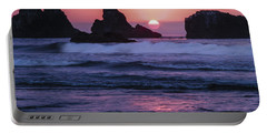 Bandon Beach Sunset Portable Battery Charger by Jean Noren