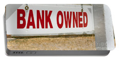 Bank Owned Real Estate Sign Portable Battery Charger