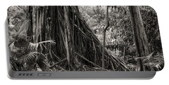 Strangler Fig And Cypress Tree Portable Battery Charger