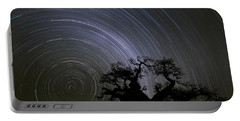 Baobab And Star Trails  Botswana Portable Battery Charger