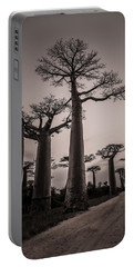 Baobab Avenue Portable Battery Charger by Linda Villers