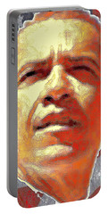 Barack Obama Portrait - American President 2008-2016 Portable Battery Charger