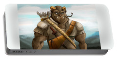 Portable Battery Charger featuring the painting Baragh The Hoargg Warrior by Reynold Jay