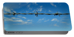 Barbed Sky Portable Battery Charger by Nina Ficur Feenan