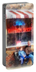 Barber - Neighborhood Barber Shop Portable Battery Charger