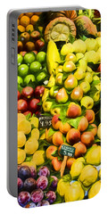 Portable Battery Charger featuring the photograph Barcelona Market Fruit by Steven Sparks
