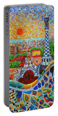 Barcelona Sunrise - Guell Park - Gaudi Tower Portable Battery Charger