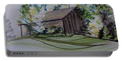 Old Barn At Wason Pond Portable Battery Charger by Sean Connolly