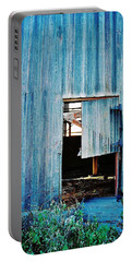 Portable Battery Charger featuring the photograph Barn Door... Monroe Co. Michigan by Daniel Thompson