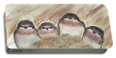 Barn Swallow Chicks Portable Battery Charger