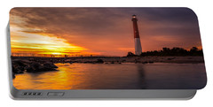 Barnegat Sunset Light Portable Battery Charger by Mihai Andritoiu
