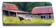 Barns And Horses Near Mills River Nc Portable Battery Charger