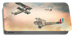 Barnstormers In The Golden Age Of Flight - Replica Fokker D Vll - Spad 7 - Curtiss Jenny Jn-4h Portable Battery Charger