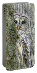 Barred Owl Peek A Boo Portable Battery Charger