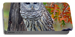 Barred Owl Portable Battery Charger