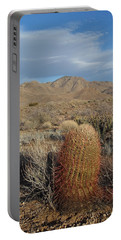 Barrel Cactus In Winter Portable Battery Charger