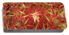 Portable Battery Charger featuring the photograph Barrel Cactus by Laurel Powell